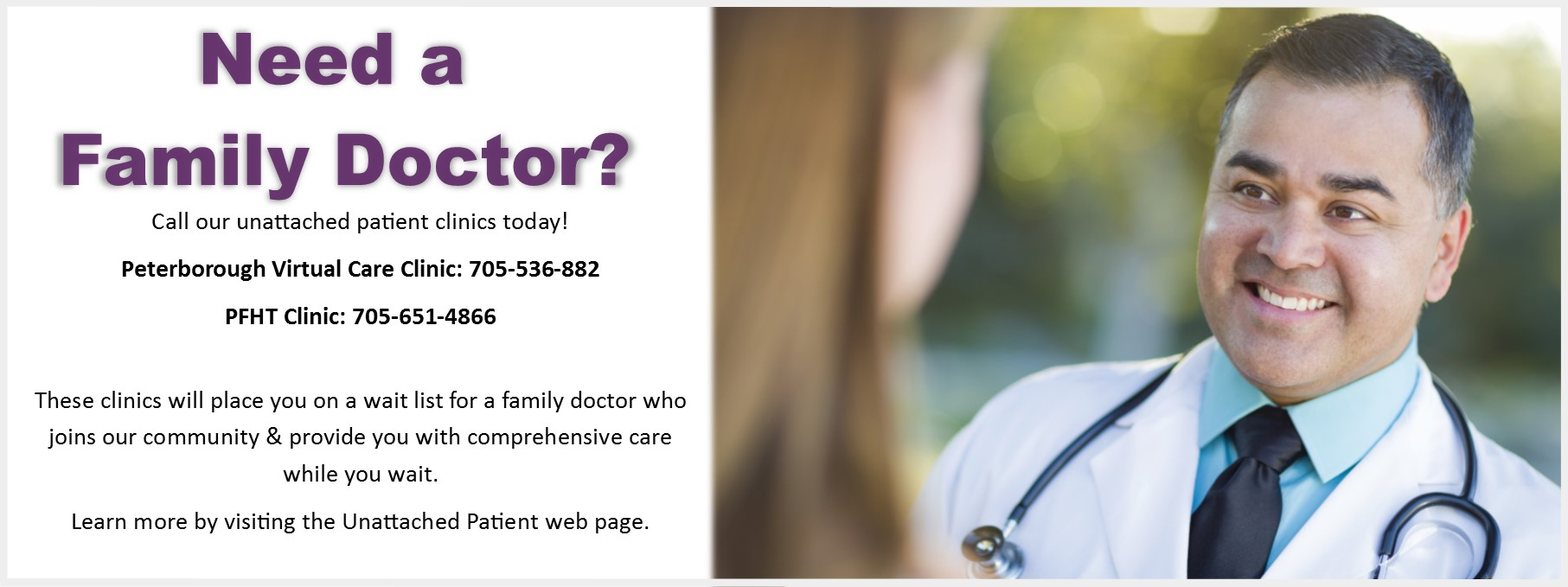 Need Family Doctor Peterborough